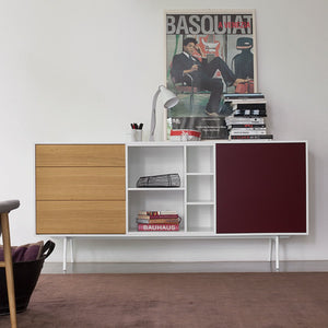 Code 3 wooden open storage sideboard by Dall'Agnese - myitalianliving