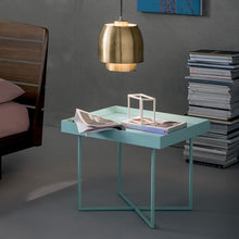 Load image into Gallery viewer, Coffee table made of metal and veneered wood by Dall'Agnese