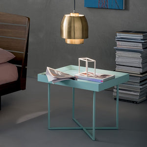 Coffee table made of metal and veneered wood by Dall'Agnese