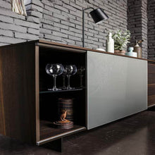Load image into Gallery viewer, Slide sliding door wooden sideboard
