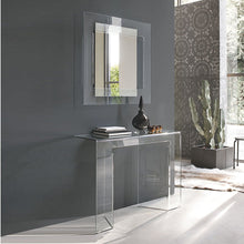 Load image into Gallery viewer, Sagitta glass console table with mirror by Target Point