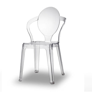 King translucent stacking dining chair by Scab Design