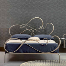 Load image into Gallery viewer, Blues rounded wrought iron king size bed by Cosatto Letti