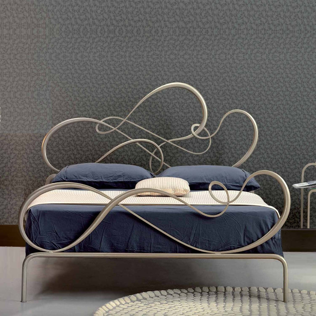 Blues rounded wrought iron king size bed by Cosatto Letti