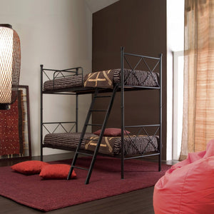 Metro wrought iron bunk bed with ladder by Cosatto Letti