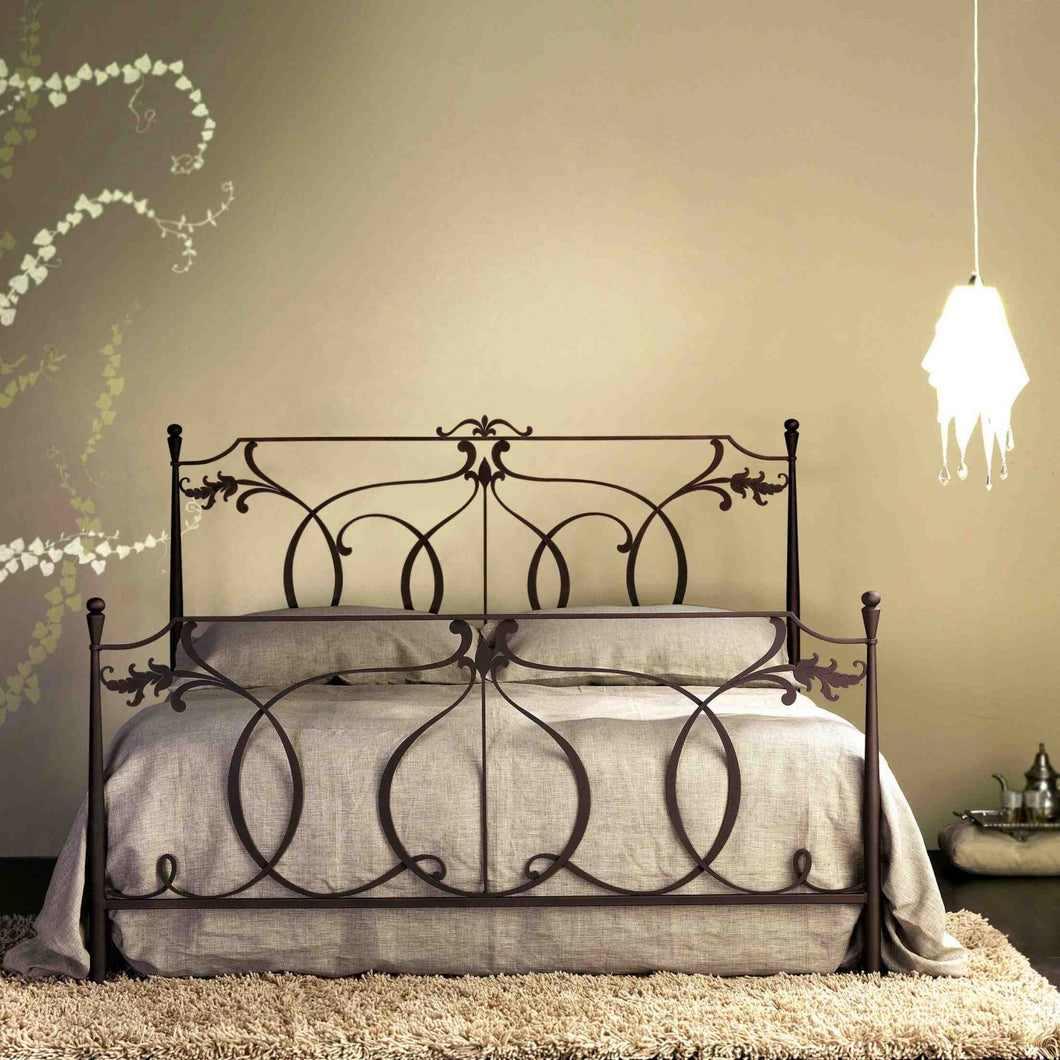 Concerto laser cut tubular wrought iron bed by Cosatto Letti