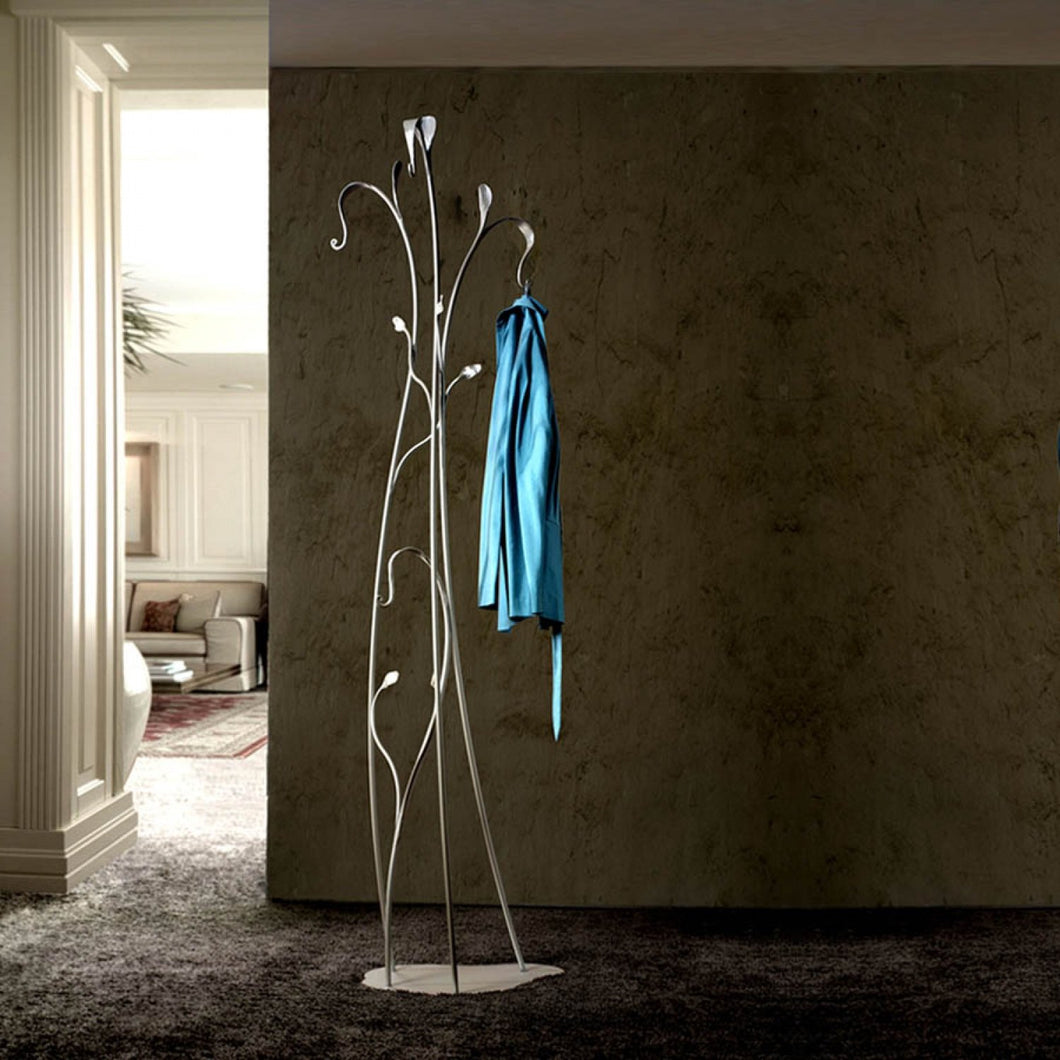 Classic metal slimline coat & hat stand Flower by Cosatto