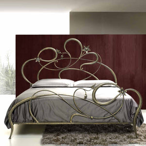 Metal framed bed