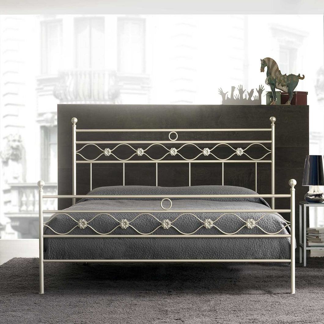 Incanto tubular wrought iron bed by Cosatto Letti