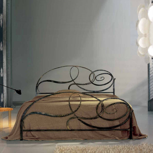 Wave luxury classic wrought iron bed by Cossato Letti