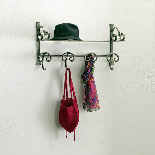 Classic wrought iron wall mounted hat rack Valent by Cosatto