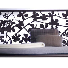 Load image into Gallery viewer, laser cut wrought iron bed