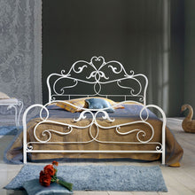 Load image into Gallery viewer, Rubens vintage wrought iron king size bed by Cosatto Letti