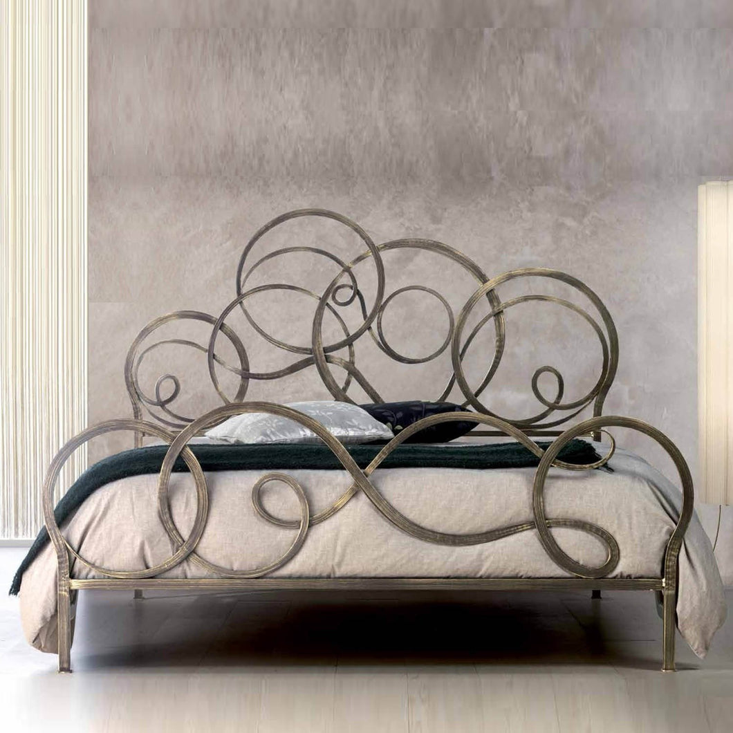 Azzurra luxury wrought iron king size bed by Cosatto Letti