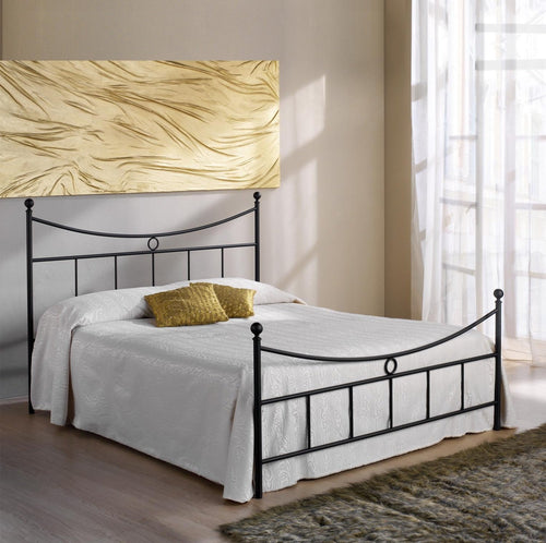 Gabbiano tubular wrought iron bed by Cosatto Letti