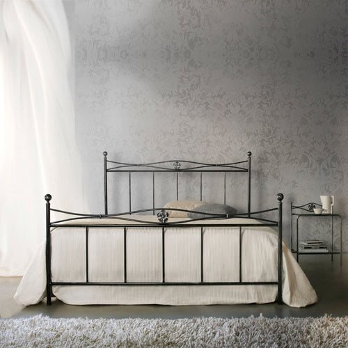 Albatros vintage tubular wrought iron bed by Cosatto Letti