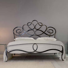 Load image into Gallery viewer, Arabesco wrought iron king size bed by Cosatto Letti