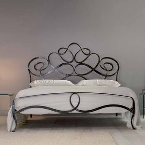 Arabesco wrought iron king size bed by Cosatto Letti