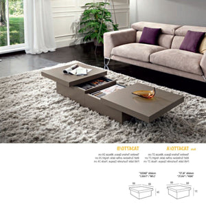 Asia rectangular coffee table with storage by La Primavera