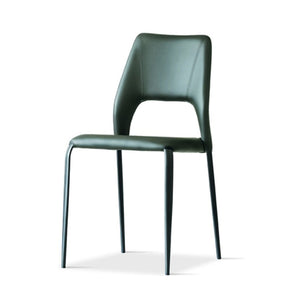 Vittoria eco-leather upholstered dining chair by Sedit