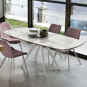 Vortice round extending dining table by Target Point