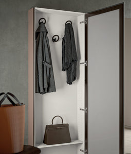 Welcome glass door shoe storage & coat rack by Birex - myitalianliving