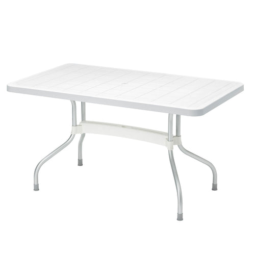 Ribalto white folding garden dining table by Scab Design - myitalianliving