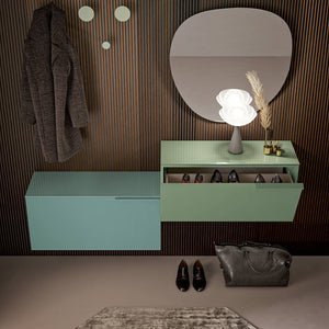 XL slim wooden shoe storage unit by Birex - myitalianliving