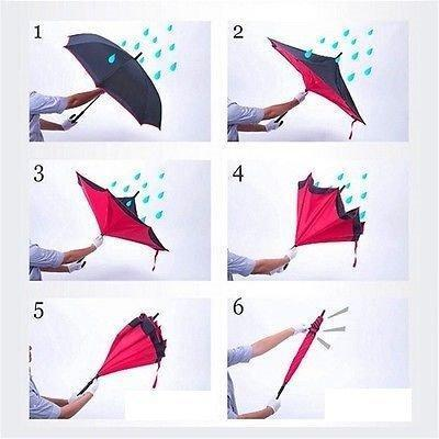 233 Travel Windproof Umbrella (Reverse Umbrella)
