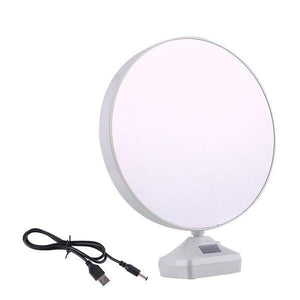 860 Plastic 2 in 1 Mirror Come Photo Frame with Led Light
