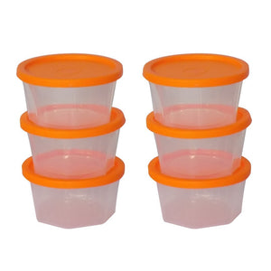 171 Plastic Container Set, 200ml, Set of 6