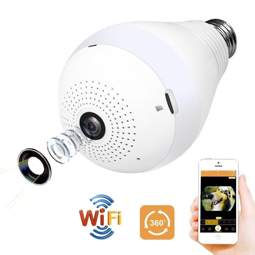 323 Panoramic Camera Light Bulb (WiFi Wireless Smart spy Bulb)