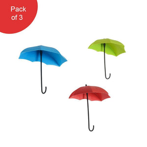 486_3pcs/set Cute Umbrella Wall Mount Key Holder Wall Hook Hanger Organizer Durable Wall hooks bathroom kitchen Umbrella Wall Hook