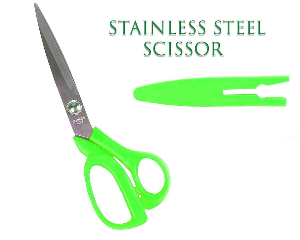 555 stainless Steel Scissors with Cover 8inch