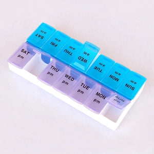 397 Tablet Pill Organizer Box With Snap Lids