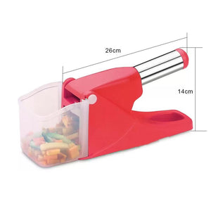 114 Virgin Plastic French Fry Chipser, Potato Chipser/Potato Slicer with Container