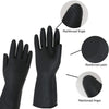 673 - Heavy Reusable Rubber Hand Gloves (Black) - 1pc