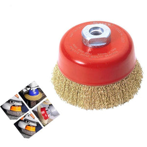 194 Wire Wheel Cup Brush (Gold)
