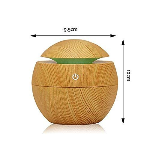 366 Mini 130 ml Atomization Humidifier, Wood Grain Aroma Diffuser, Ultrasonic Air Purifier With LED Lights