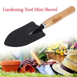 Your Brand Gardening Tools - Reusable Rubber Gloves, Flower Cutter/Scissor & Garden Tool Wooden Handle (3pcs-Hand Cultivator, Small Trowel, Garden Fork)
