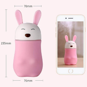 361 Lovely Rabbit Humidifier, Air Diffuser Freshener With LED Night Light
