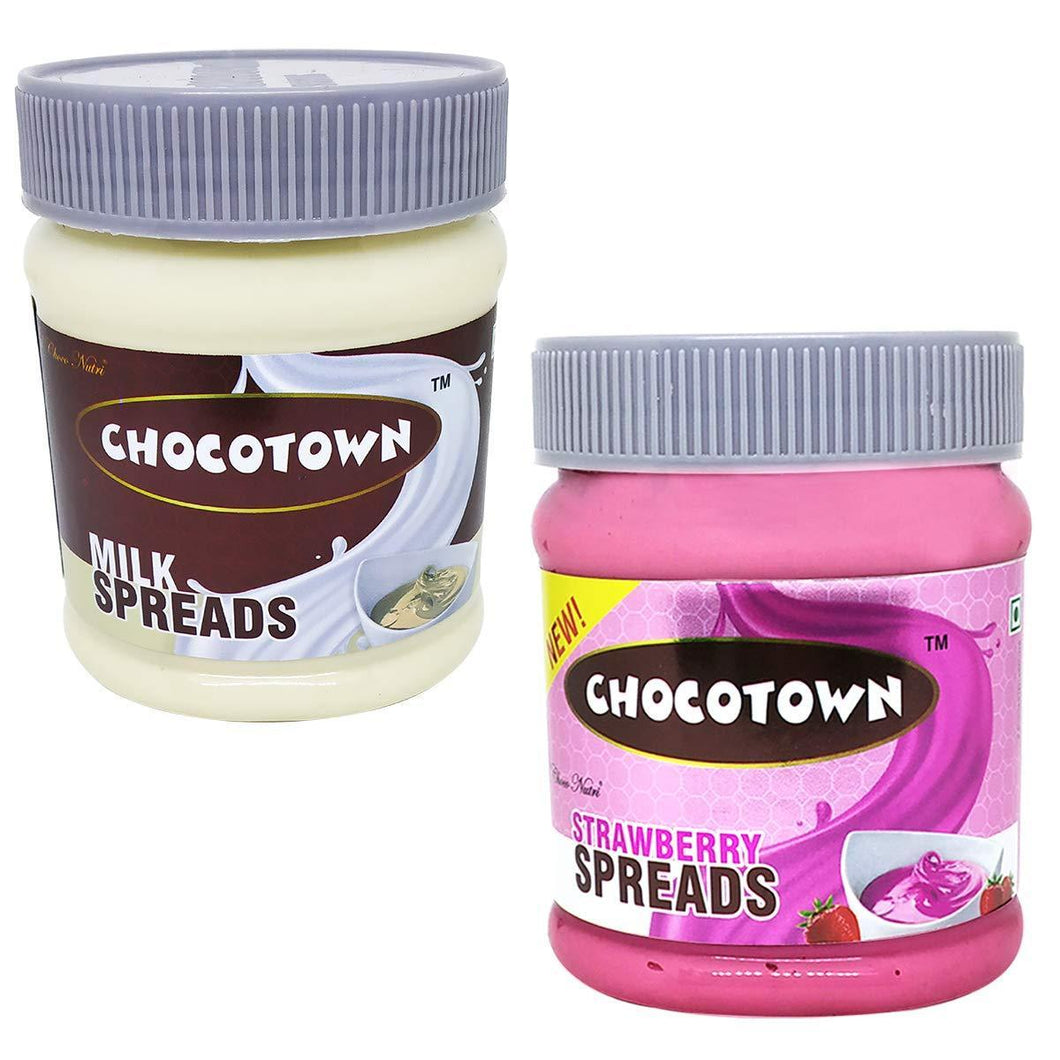 Chocotown Chocolate Spreads -Milk Spreads & Strawberry Spreads- 350 gm