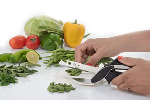Your Brand Kitchen combo -Manual Fruit Juicer, Smart Knife and 3 Kitchen Tools (Pizza Cutter, Apple Cutter & Lemon Squeezer)