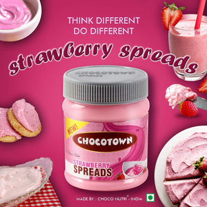Chocotown Chocolate Spreads - Cocoa Spreads, Milk Spreads & Strawberry Spreads- 350 gm