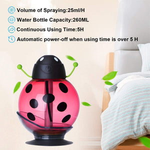 371 Portable USB Cute Beatles Humidifier Ultrasonic Air Diffuser with LED Light
