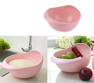 Your Brand Kitchen Combo - Plastic Rice Bowl Strainer, Bird fork and Apple cutter
