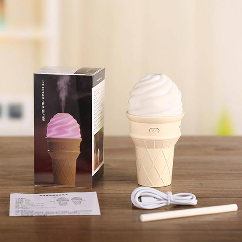 396 New Ice Cream Design LED Humidifier for Freshening Air & Fragrance Spreading