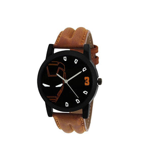 wt1014- Unique & Premium Analogue Watch Ironman Print Multicolour Dial Leather Strap (Ironman 14)