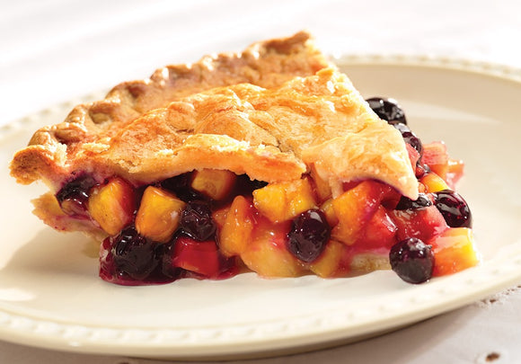Mrs. B's Peach Blueberry Pie
