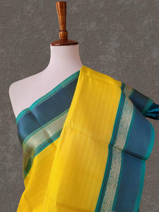 Yellow Pink Kanjivaram Saree